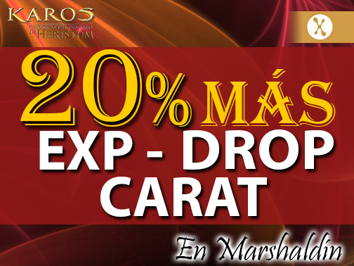 Evento de Carats, EXP y Drop para Marshaldin
