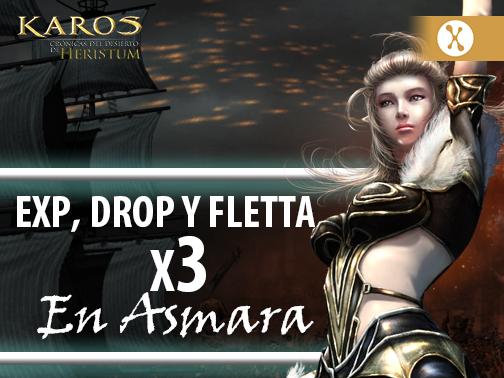 Evento de DROP, Fletta y EXP para Asmara